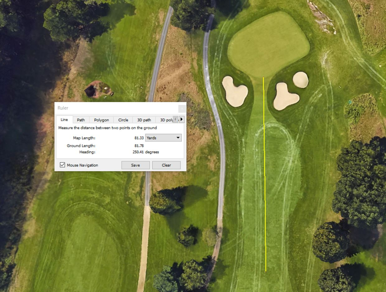 Golf Yardage Book Measure